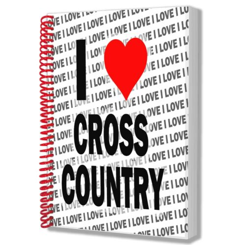 I Love Cross Country A5 Notebook Pad Diary Drawings Birthday Christmas Gift
