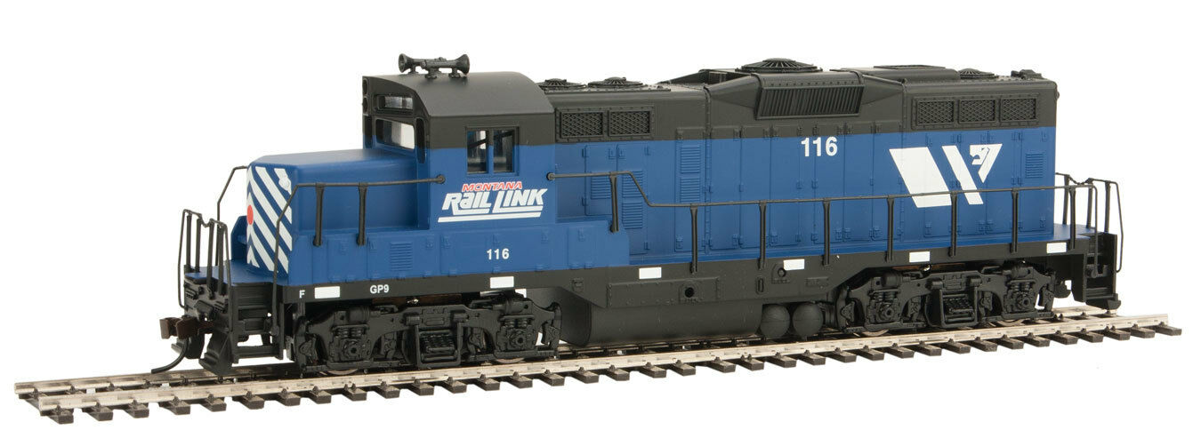 Escala H0 - Disel Locomotora de USA GP9M Montana Rail Izquierda 119 Neu