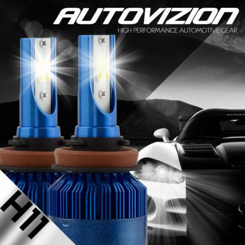 AUTOVIZION LED HID Headlight Conversion kit H11 6000K for 2005-2016 Ford Escape
