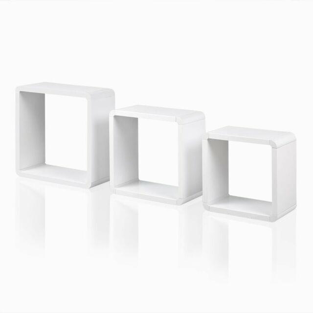 Cube Wandregal CD Regal Bücherregal 3 er Set Hängeregal Retro cubes
