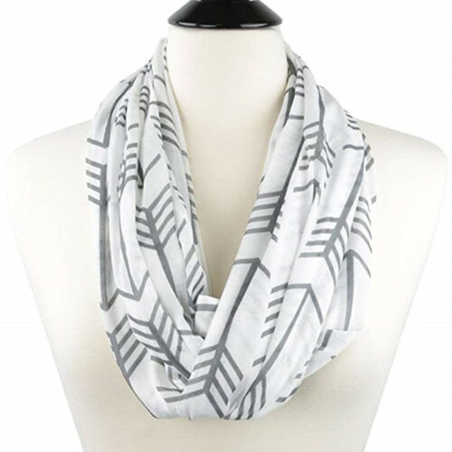 Unsiex Winter Scarf With Zip Pocket Thermal Active Infinity Christmas Warmer UK