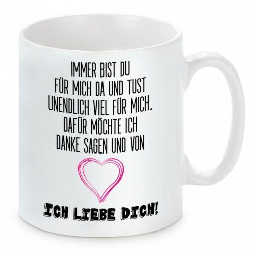 Ich liebe dich Herzbotschaft® Tasse mit Motiv
