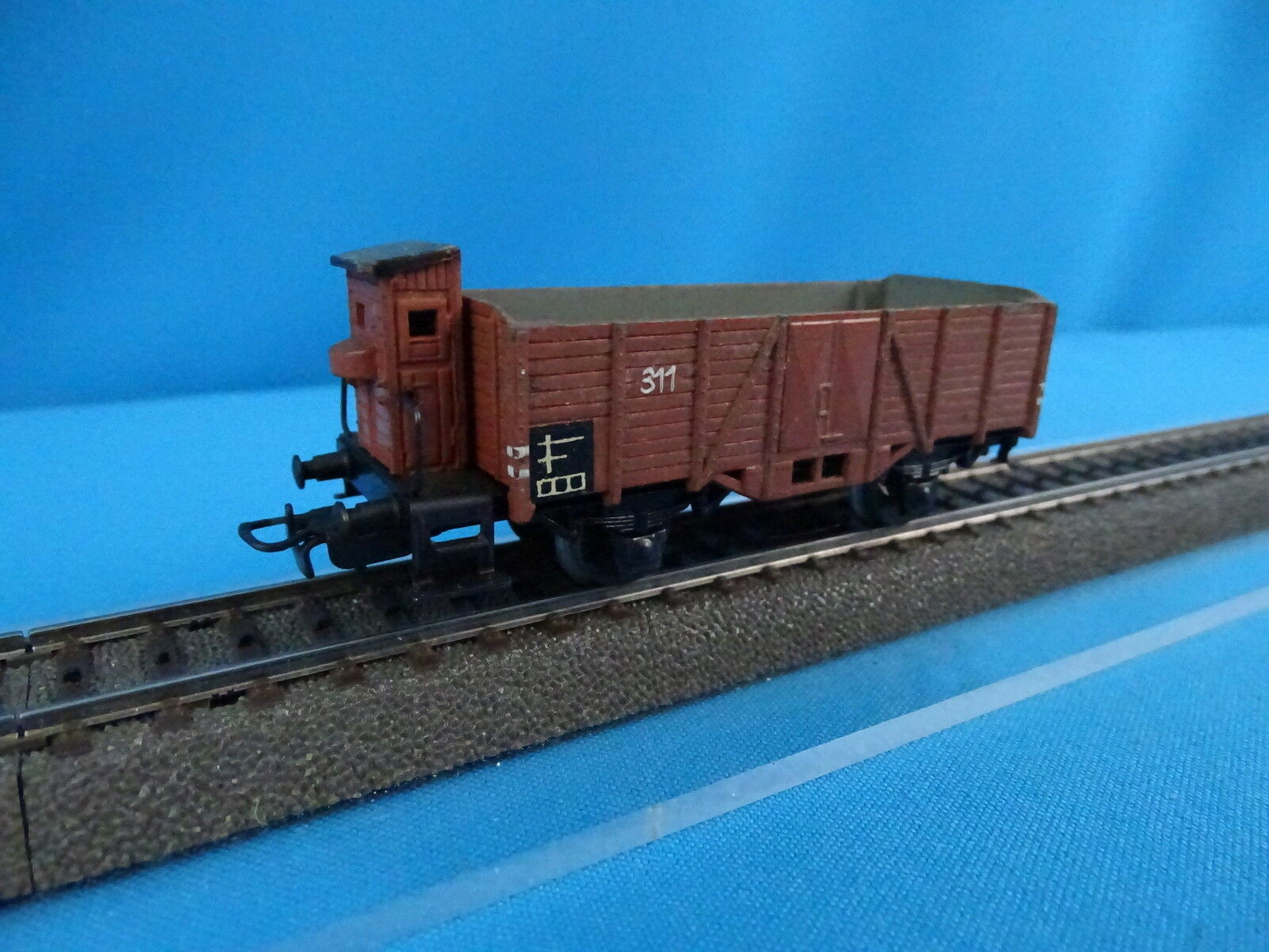 Marklin 315 B Open goods car marrone with Breakershouse Version 7 of 1950