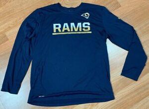 Details about Game Worn Nike Dri-Fit LA Rams Nicholas Grigsby NFL Long Sleeve Shirt XL Coach