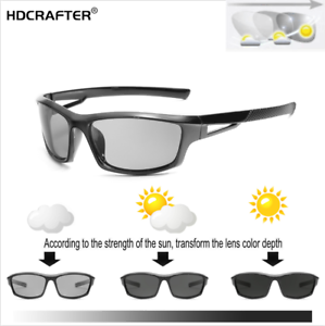 Men-Photochromic-Polarized-Sunglasses-Outdoor-Driving-Riding-Fashion-Glasses-New