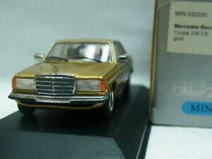 Wow extrêmement rare Mercedes W123 230ce Coupe Gold 1:43 Minichamps-200/280/300 / se 4012138070820