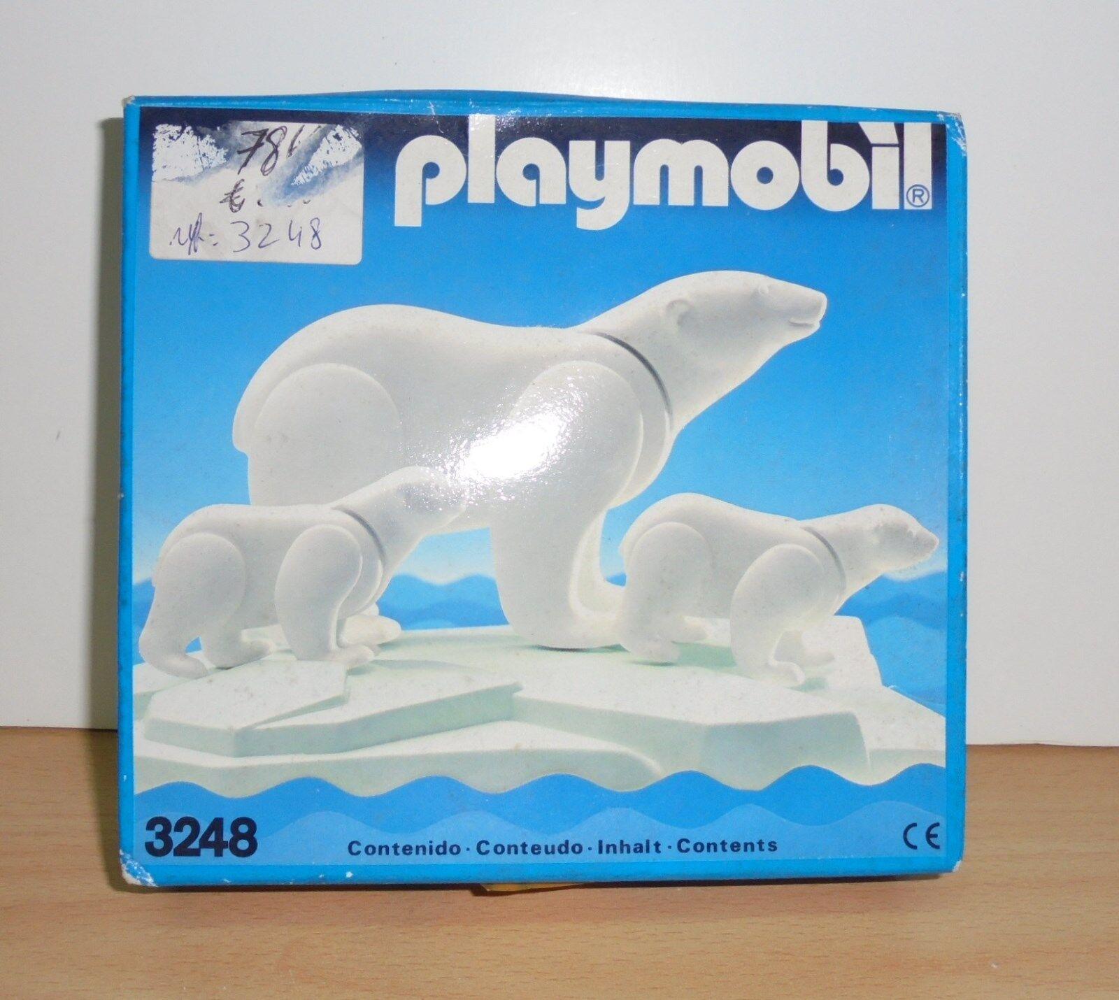 PLAYMOBIL 3248 POLAR BEARS 1984 - NEW - NIB