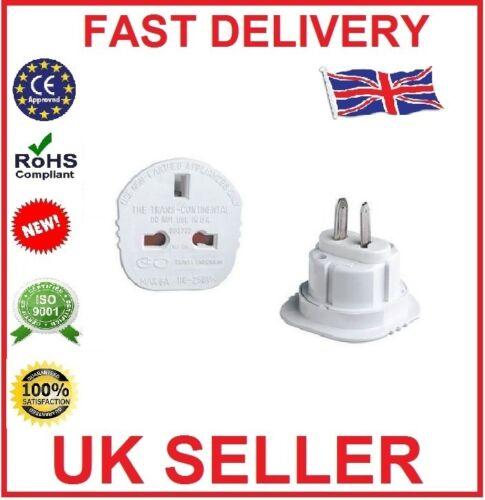 UK3 pin à nous 2pin plug voyage adaptateur aus japan Canada New Continental Adaptateur