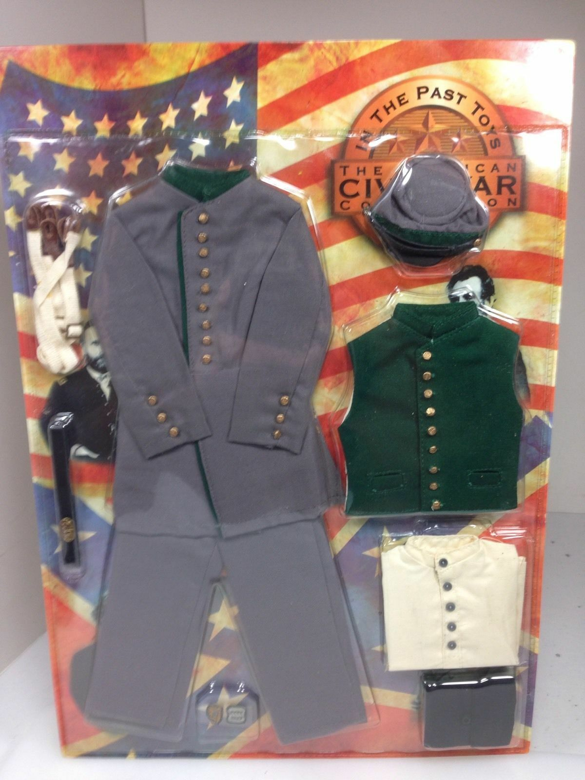 1 6 Scale Highly Detailed In the Past Toys Civil War Uniform   weapons Set LOT