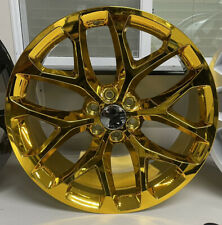New 4 24 Inch Gold Snowflake Wheels