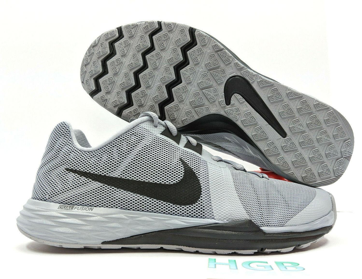 Nike Train Prime Iron DF Mens Grey Black White Training Gym shoes 832219-003 NIB