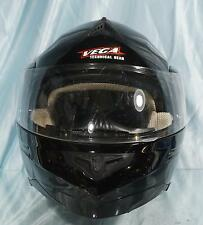 Nice Black Full Face VEGA SUMMIT 3.0 Modular Motorcycle Snowmobile Helmet Sz L
