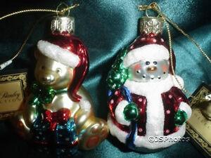 2003 Robert Stanley Hobby Lobby Glass Christmas Ornaments ...