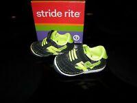 Brand Toddler Boys Black & Green Stride Rite Srt Jason Tennis Shoes, 3