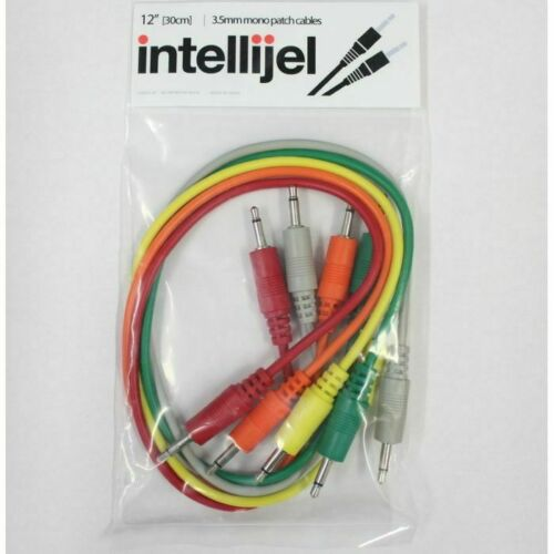 pack of 5, 12... Intellijel 3.5mm Mini Jack Eurorack Modular Synth Patch Cables