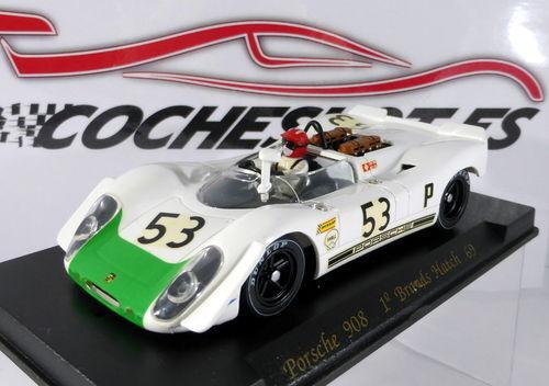 PORSCHE 908 1º 1º 1º BRANDS HATCH 1969  whiteO green Nº53 REF.C14 FLY 38fc46