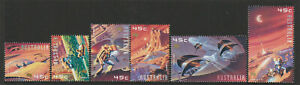 Australia-2000-Space-Set-of-6-Decimal-Stamps-Mint-Never-Hinged
