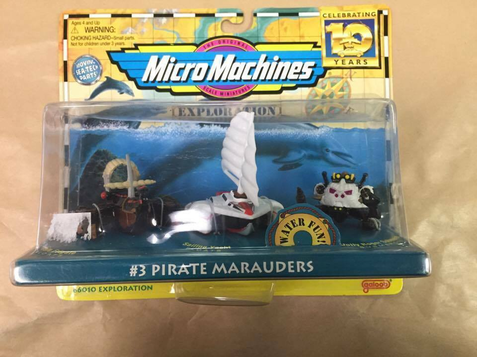 Mikromaskiner Pirate Marauders samling Galoob