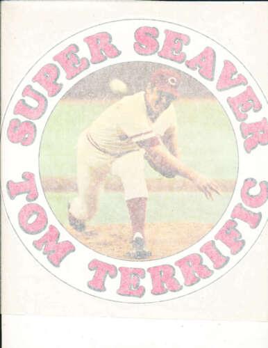 1978 Super Seaver Tom Terrific Cincinnati Reds 9x10 Iron on