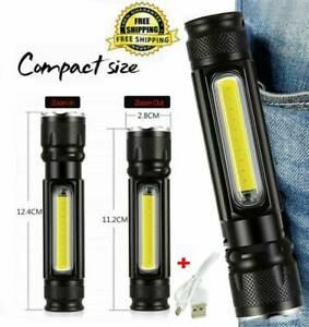 50000LM-COB-LED-Flashlight-Rechargeable-Zoomable-T6-torch-Side-magnet-Work-Light