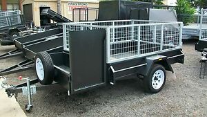 7-x-5-H-D-2Ft-Gal-MEsh-Crate-Mower-Tray-Trailer