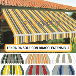 Colori Tende Da Sole.Tenda Tende Da Sole A Balcone Muro Bracci Estensibili 300x250 Vari