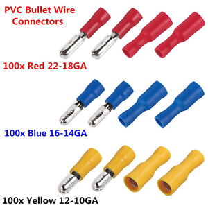 Image Is Loading 300pcs Bullet Terminals Crimp Male Amp Female Insulated