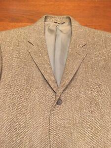 Medium-Vintage-Harris-Tweed-Hereingbone-Tan-Wool-Blazer-Redwood-Ross