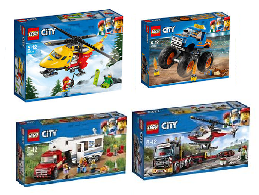 LEGO® CITY 2018 COLLECTION COLLECTION COLLECTION 4tlg. 60179 - 60180 - 60182 - 60183 1399e0