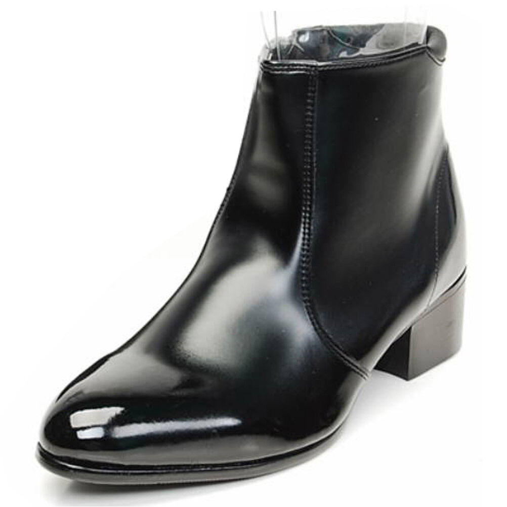 Mens Casual Dress Formal Business Faux Leather Zip Chelsea Ankle Stiefel schuhe