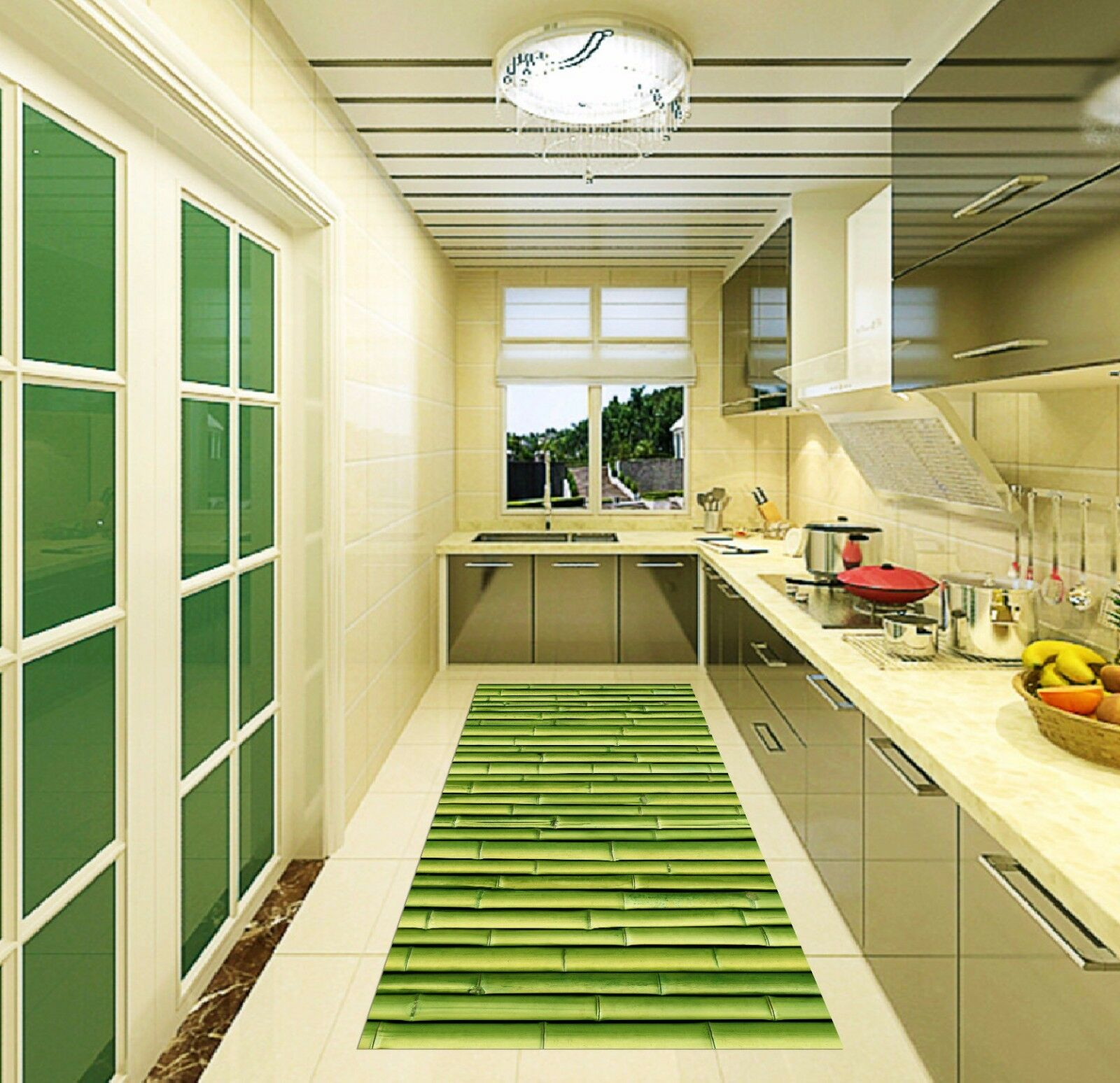 3D Green Bamboo 04 Kitchen Mat Floor Murals Wall Print Wall Deco AJ WALLPAPER AU