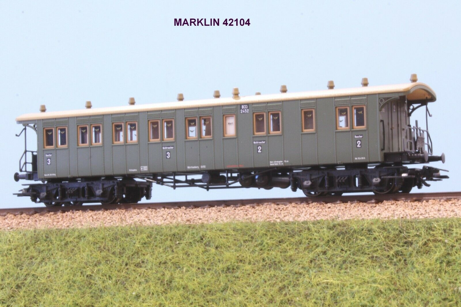 Marklin 42104 carriage to Carts 3 CL FERROVI a rttemberg EP. the