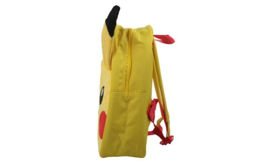 Official Pokemon Pikachu Plush 3D With Ears Front Pocket Backpack New