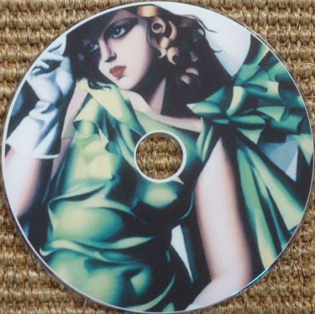 Vintage Fashion Women Art Nouveau Deco clothes dress hat hair images 2300  CD