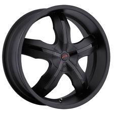4-NEW Platinum 212B Widow FWD 17x7.5 5x110/5x115 +42mm Matte Black Wheels Rims