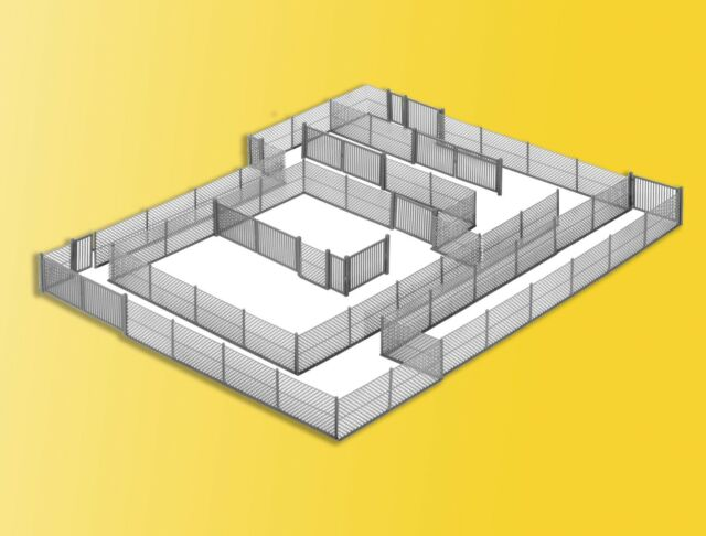 Kibri 38605 Échelle H0, Clôture Barbelée Gris, 280cm (1m =