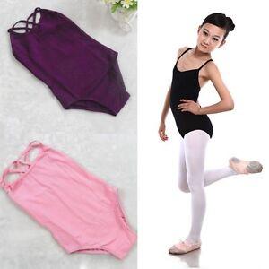 8ec7989c0 Image is loading Girls-Kids-Sleeveless-Gymnastics-Dance-Leotards-Ballet- Leotard-