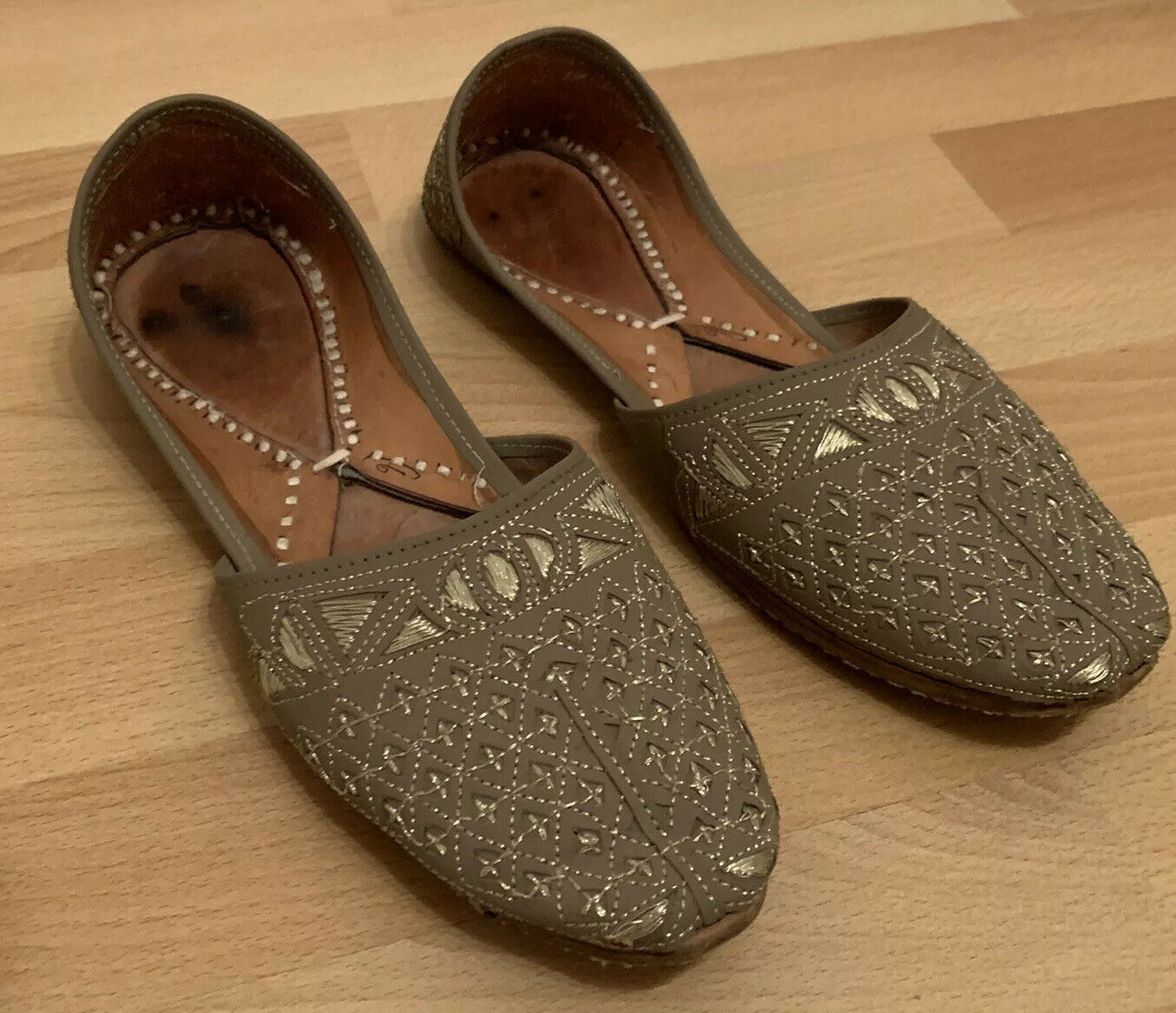 Mens Asian Hand Made Wedding Party Khusa/Shoes UK SIZE 7