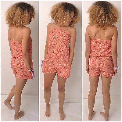 PLAYSUIT JUMPSUIT SIZE 6 8 10 12 14 16 FESTIVAL TUBE BOHO DRESS MACKIES FAIR