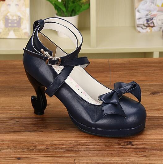 Womens Buckle Made Shoes Design Pumps Black Princess Lolita Jd_uk