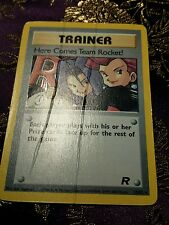 Mint Here Comes Team Rocket Holographic Error Misprint Pokemon Card Make An Offe