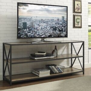 hot sale online d76ae 667e2 Details about Vintage Industrial TV Stand Unit Furniture Metal Wood  Sideboard Bookcase Cabinet