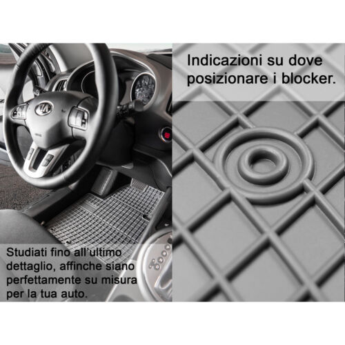 Set Tappetini Tappeti per HONDA Civic VIII hatchback 06-11 su misura in gomma