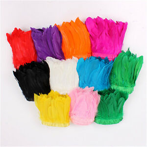 Wholesale 10//50//100pcs perfect 6-8inches//15-20cm pearl chicken feathers decorate