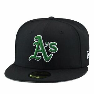 huge selection of c38aa 63025 New Era Oakland Athletics A s 2000 Alternate Fitted Hat All Black Dark ...