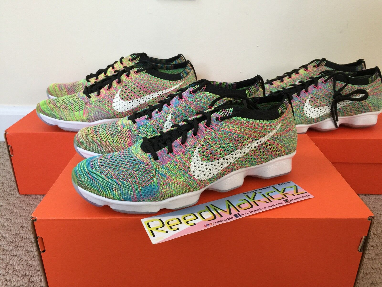 Nike Flyknit Zoom Agility Multi Color Womens Comfortable