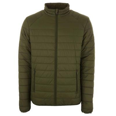 Henleys Men's Demolition Padded Coat Jacket Khaki