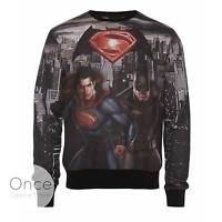Primark Offficial Mens Batman V Superman Photo Print Jumper Sweatshirt