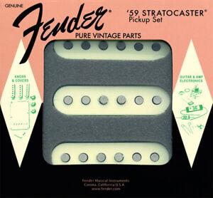 Genuine-Fender-Pure-Vintage-039-59-StratocasterGuitar-Pickups-Set-AGED-WHITE