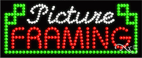 "BRAND NEW ""PICTURE FRAMING 27x11x1 LED SIGN w/CUSTOM OPTIONS 20957"